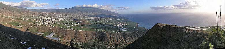 The Aridane valley in the sunny west of La Palma